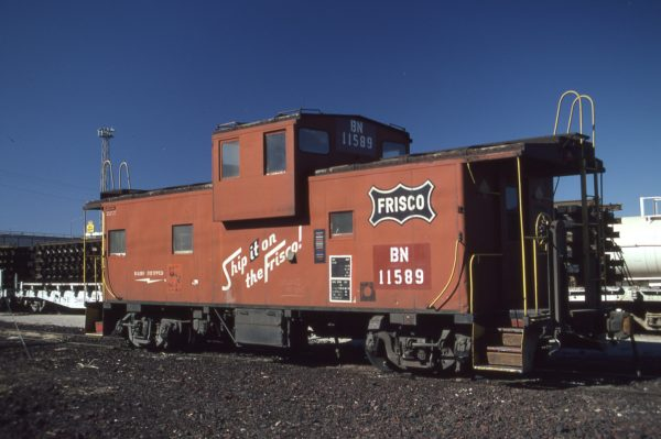 Caboose 11589 (Frisco 1261) at Amarillo, Texas on February 14, 1981 (J.H. Lemke)
