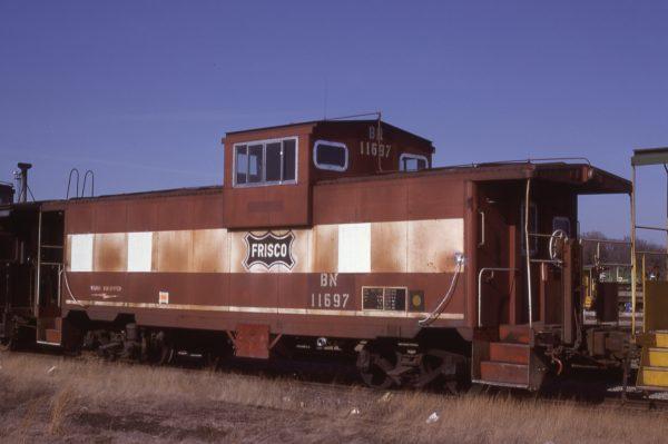 Caboose 11697 (Frisco 1723) at Springfield, Missouri on January 15, 1982 (J.C. Benson)