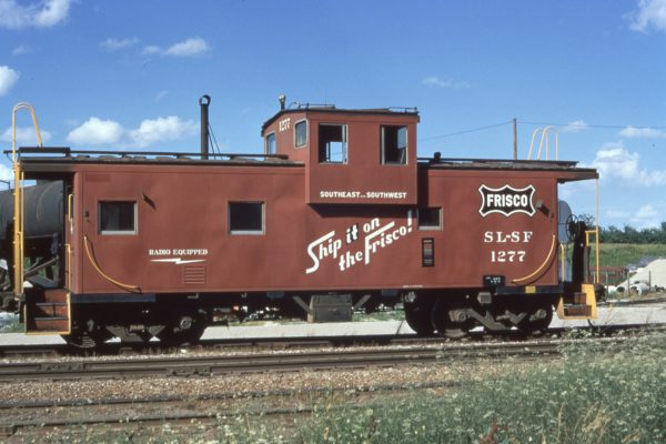 Caboose 1277 at Valley Park, Missouri in July 1973