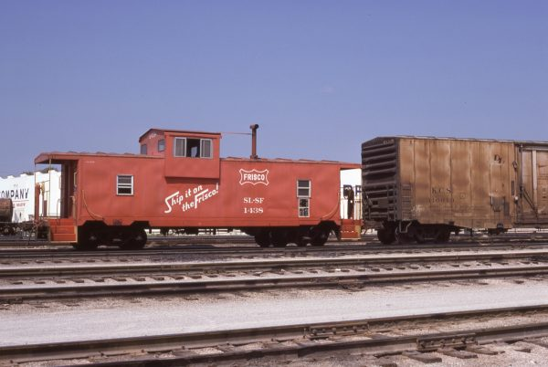 Caboose 1438 at Tulsa, Oklahoma on August 24, 1978