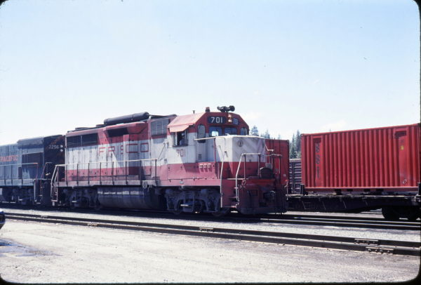 GP35 701 at Portola, California in May 1979 (B. Larson)