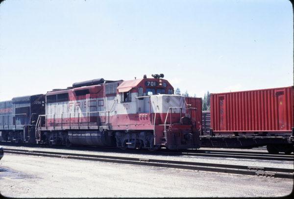 GP35 701 at Portola, California in May 1979 (B. Larson)