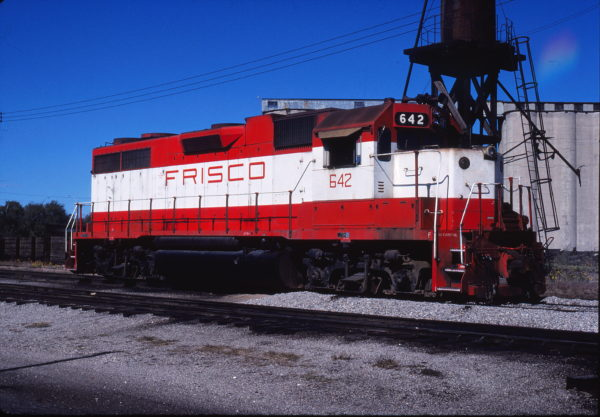 GP38AC 642 at Enid, Oklahoma on October 18, 1980 (Gene Gant)