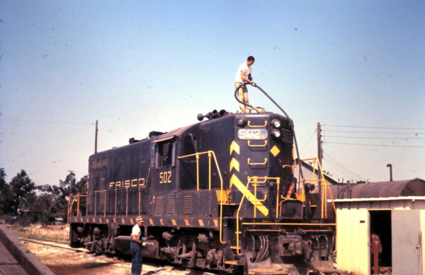 GP7 502 at Oklahoma City, OK Engine Terminal (date unknown)