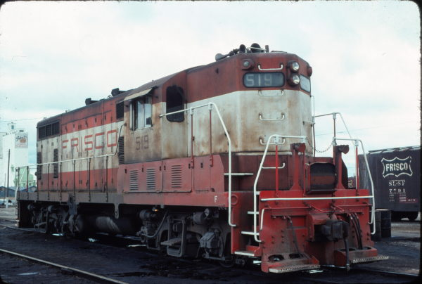 GP7 519 at Enid, Oklahoma in April 1976