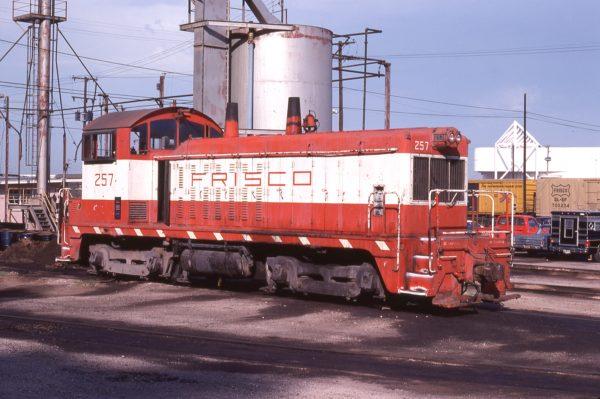 NW2 257 at Kansas City, Missouri in July 1978