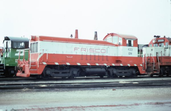 NW2 422 (Frisco 262) at Springfield, Missouri in June 1981