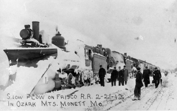 Plowing Snow at Monett, Missouri on February 21, 1912