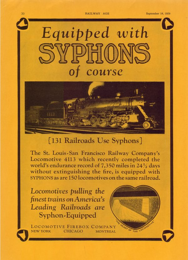 Locomotive Firebox Company Advertisement from Railway Age - September 14, 1929