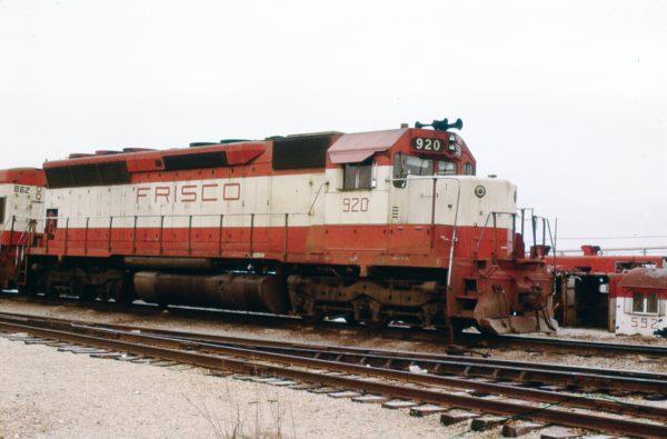 SD45 920 at Springfield, Missouri on April 14, 1979