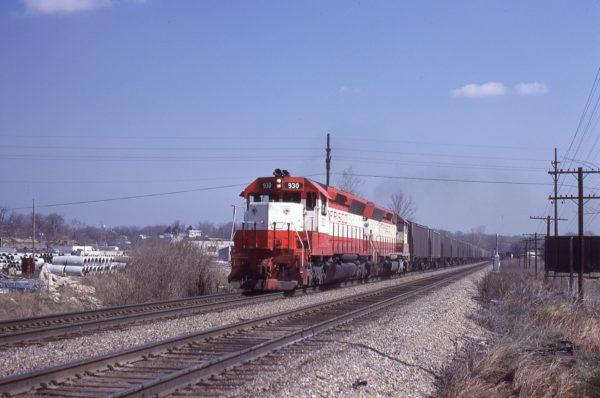 SD45 930 at Merriam, Kansas on April 19, 1980 (J.C. Benson)