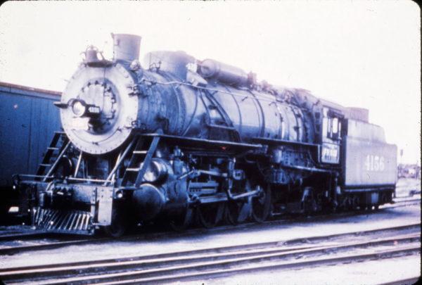 2-8-2 4156 at Fort Scott, Kansas on June 24, 1951 (R. Wallin)