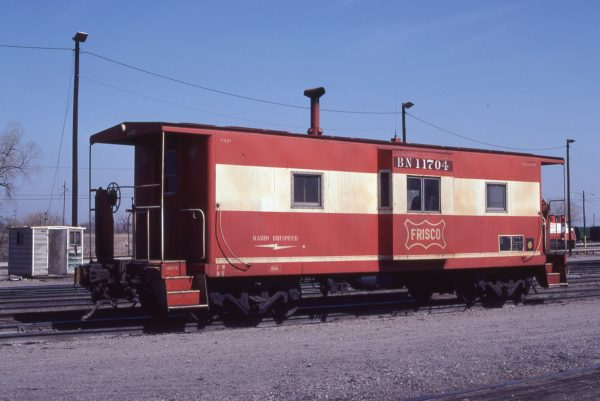 Caboose 11704 (Frisco 1730) at Oklahoma City, Oklahoma on March 15, 1982 (Bill Bryant)
