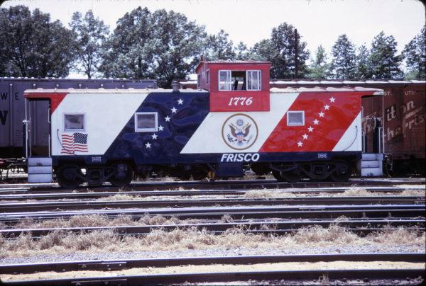 Caboose 1776 at Birmingham, Alabama in May 1973