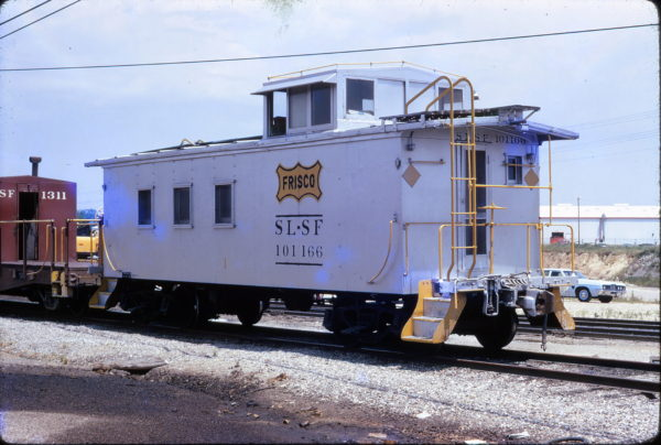 MOW Caboose 101166 at Memphis, Tennessee in June 1973
