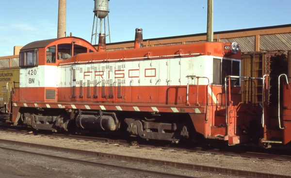 NW2 420 (Frisco 260) at Denver, Colorado in November 1982 (G.A. Rich)