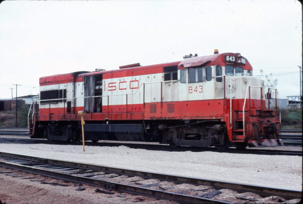 U30B 843 at Springfield, Missouri in November 1977 (Mike Sosalla)