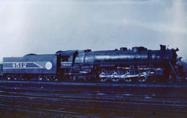 4-8-4 4512 at St. Louis, Missouri in March 1945