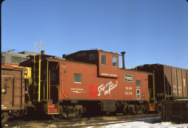 Caboose 1219 at Sidney, Nebraska on December 16, 1978 (Norm Metcalf)