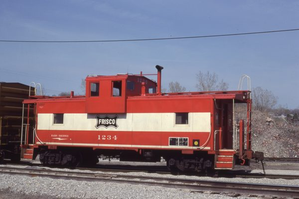 Caboose 1234 at Kansas City, Kansas on April 19, 1980 (J.C. Benson)