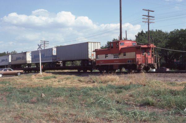Caboose 1263 at Vinita, Oklahoma on August 16, 1980