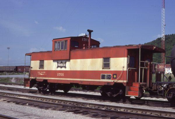 Caboose 1701 at Tulsa, Oklahoma on May 19, 1980 (J.C. Benson)