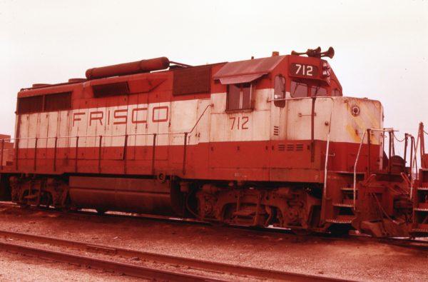 GP35 712 at Springfield, Missouri on April 15, 1979