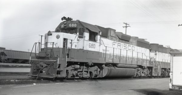 GP38-2 680 at Kansas City, Missouri on January 20, 1976