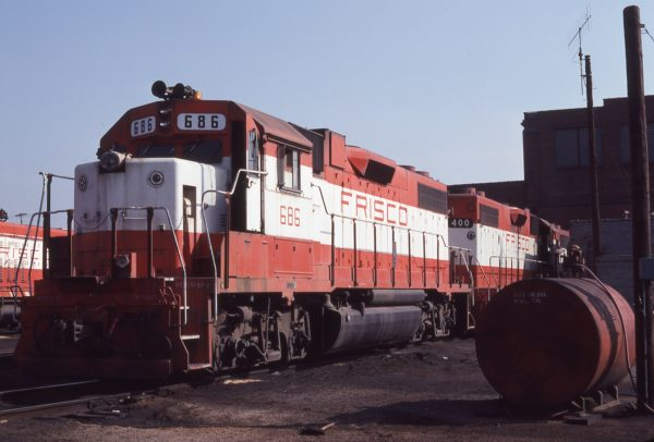 GP38-2s 686 and 400 at St. Louis, Missouri on August 18, 1979 (Michael Wise)