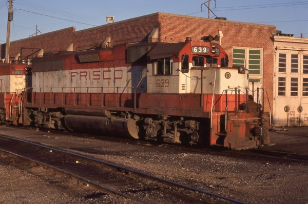 GP38 639 at Ft. Smith, Arkansas on November 24, 1976 (P.L. Strang)