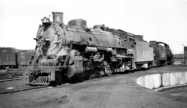 2-8-2 4119 at Monett, Missouri (date unknown)