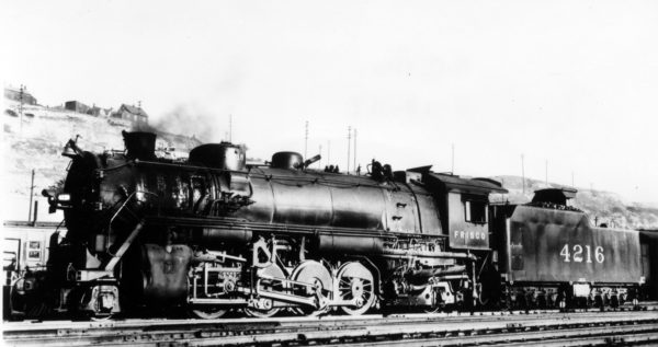 2-8-2 4216 at Kansas City, Missouri (date unknown)