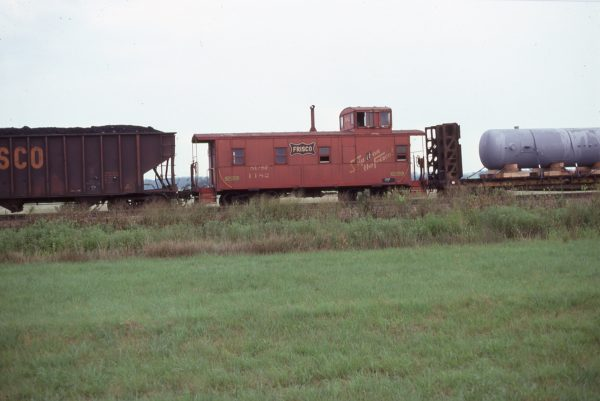 Caboose 1182 at White Oak, Oklahoma on August 19, 1977