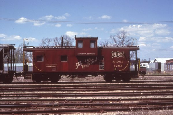Caboose 1283 at Ft. Smith, Arkansas in May 1980