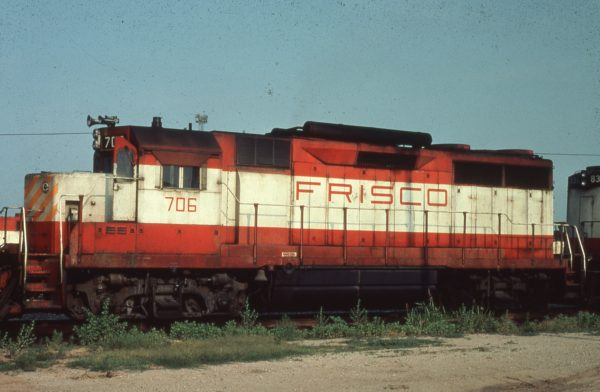 GP35 706 at Tulsa, Oklahoma (date unknown) (Harry Stegmaier)