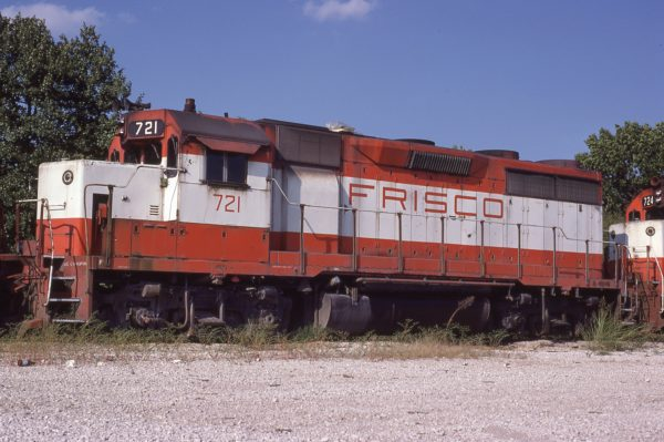 GP35 721 at Springfield, Missouri on August 30, 1980 (P.B. Wendt)