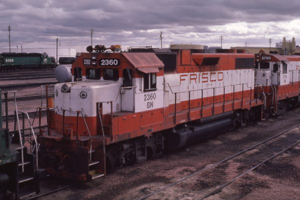 GP38-2 2360 (Frisco 690) at Lincoln, Nebraska in April 1981 (J.C. Butcher)