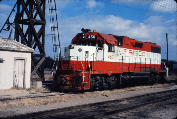 GP38-2 450 at Enid, Oklahoma on November 7, 1980 (Gene Gant)