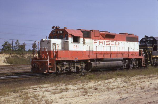 GP38-2 691 at Hamlet, North Carolina in September 1973 (Warren Calloway)