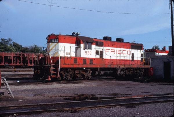 GP7 532 at St. Louis, Missouri in May 1975 (James C. Herold)