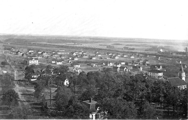 Monett, Missouri - Roundhouse to the right (Circa 1909)