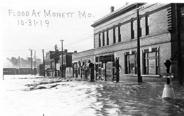 Monett, Missouri flood on October 31, 1919