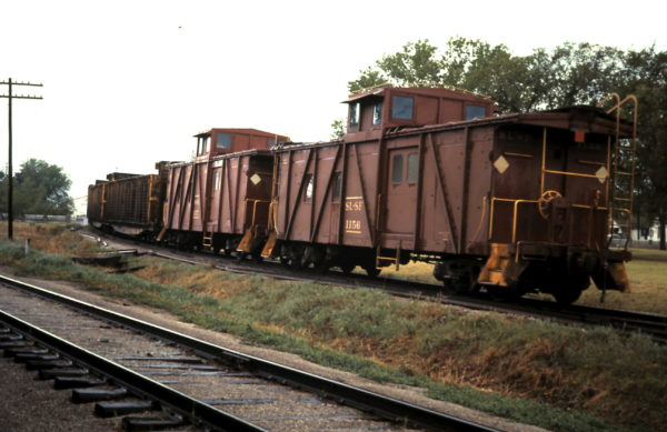 Outside Braced Caboose 1156 at Nichols Jct, Springfield, MO (date unknown).