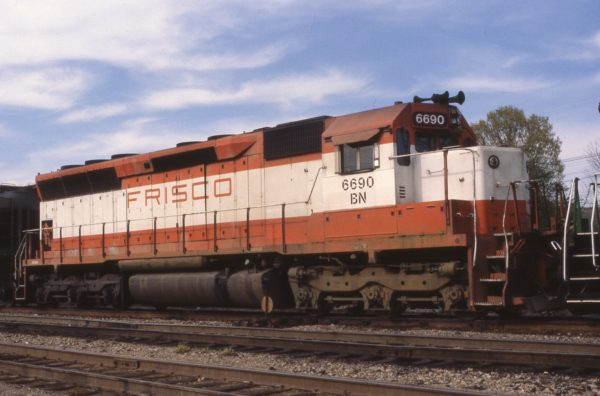 SD45 6690 (Frisco 942) at Amory, Mississippi in April 1981
