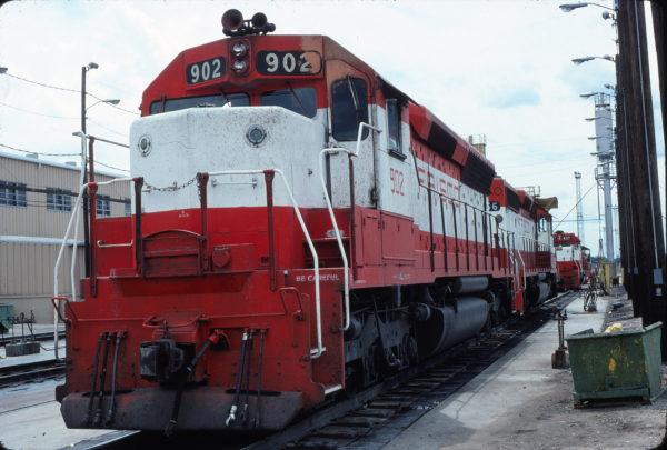 SD45 902 at Tulsa, Oklahoma on August 14, 1980
