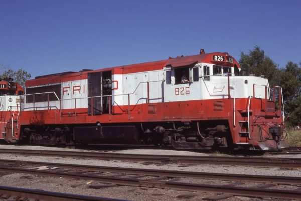 U25B 826 at Sherman, Texas on August 20, 1980 (Bill Bryant)