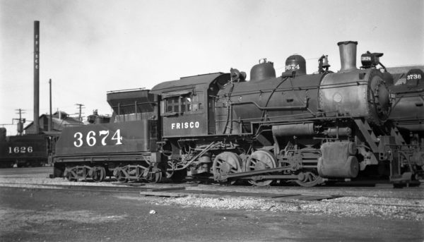 0-6-0 3674 at Fort Smith, Arkansas on June 8, 1950