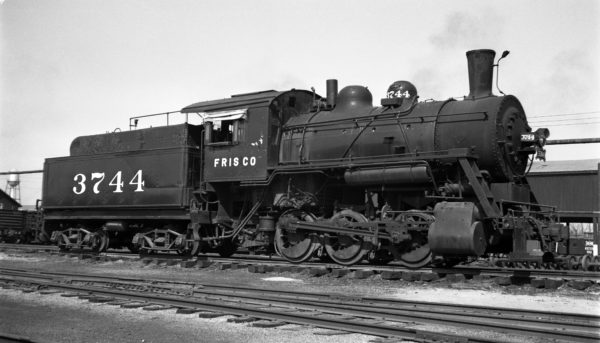 0-6-0 3744 at Fort Smith, Arkansas on March 11, 1952