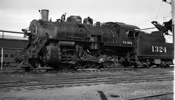 2-8-0 1324 at Fort Smith, Arkansas on May 16, 1950