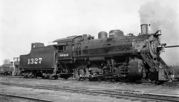 2-8-0 1327 at Fort Smith, Arkansas on August 7, 1950